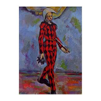 Vintage Kunst - Harlekin durch Paul Cezanne