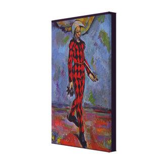 Vintage Kunst - Harlekin durch Paul Cezanne Leinwanddruck