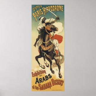 Vintage Kunst Nouveau, Araber der Sahara-Wüste Poster