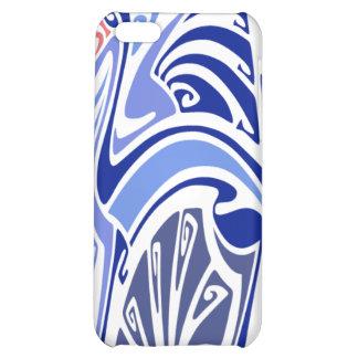 Vintage Kunst nouveau Blaudrachen iPhone 5C Hülle