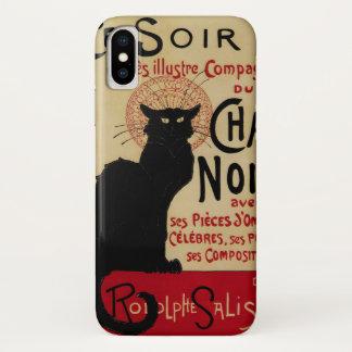 Vintage Kunst Nouveau, Cer Soir Chat-Noir schwarze iPhone X Hülle