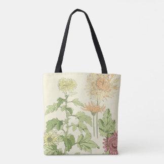 Vintage Kunst Nouveau, Chrysanthemen in einem Tasche