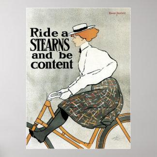 Vintage Kunst Nouveau, Fahrheck-Fahrräder Poster