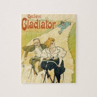 Vintage Kunst Nouveau, Fahrrad-Gladiator-Zyklen Puzzle