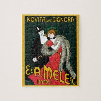Vintage Kunst Nouveau, italienische Mode-Liebe Puzzle