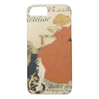 Vintage Kunst Nouveau, junges Mädchen, das Katzen iPhone 8/7 Hülle