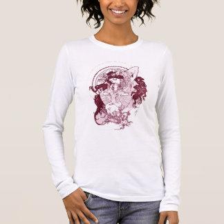 Vintage Kunst Nouveau Langarm T-Shirt