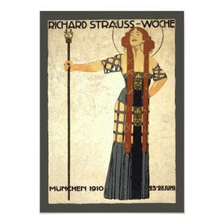 Vintage Kunst Nouveau Richard Strauss-Woche. Karte