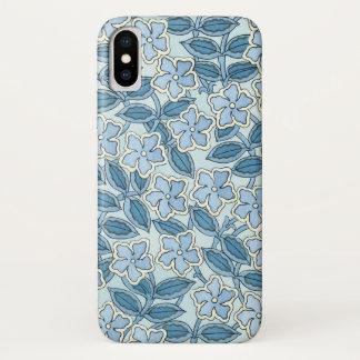 Vintage Kunst Nouveau Singrün-Blumen in einem iPhone X Hülle