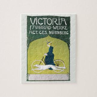 Vintage Kunst Nouveau, Victoria Fahrrad Werke, Puzzle