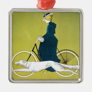 Vintage Kunst Nouveau, Victoria Fahrrad Werke, Silbernes Ornament