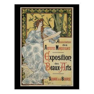 Vintage Kunst Nouveau Weiblicher Künstler und