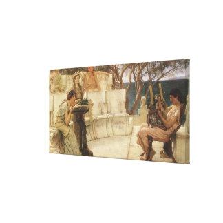 Vintage Kunst, Sappho und Alcaeus durch Alma Leinwanddruck