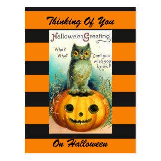 Vintage Kunstpostkarte Halloweens Postkarte