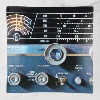 Vintage kurze Wellen-Radiogerät Dekoschale
