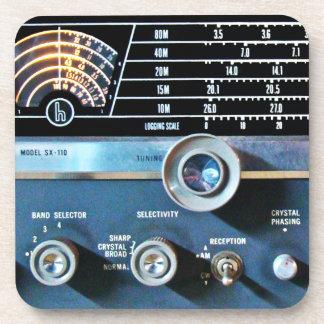 Vintage kurze Wellen-Radiogerät Getränkeuntersetzer