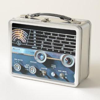 Vintage kurze Wellen-Radiogerät Metall Lunch Box