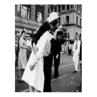 Vintage küssende Couple.Hug Kuss-Postkarte Postkarten