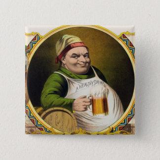 Vintage Lager-Bier Anzeige Quadratischer Button 5,1 Cm