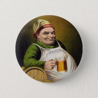 Vintage Lager-Bier Anzeige Runder Button 5,7 Cm
