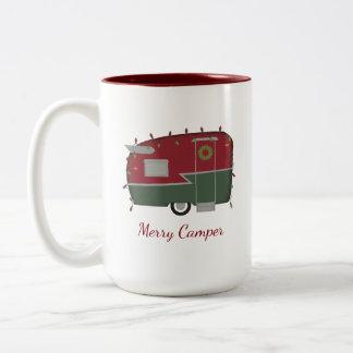 Vintage Lagerbewohner-Weihnachtsfeiertags-Tasse Zweifarbige Tasse