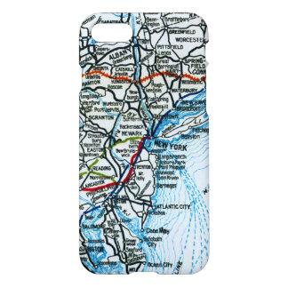 Vintage Landstraßen-Karte New York City iPhone 8/7 Hülle