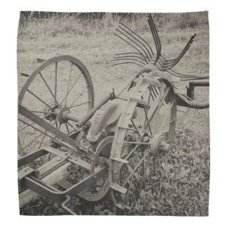 Vintage landwirtschaftliche Maschine Kopftuch