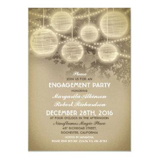 Vintage Laternen-Verlobungs-Party Einladungen