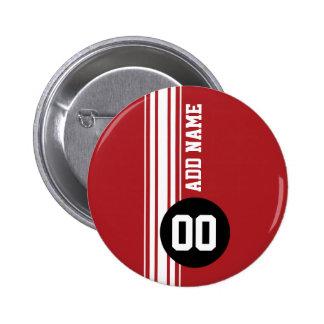 Vintage laufende Streifen - Rot und Schwarzes Anstecknadel