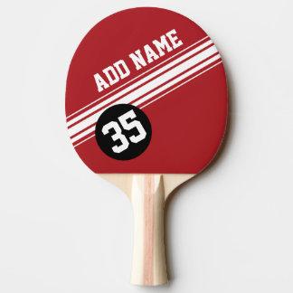 Vintage laufende Streifen - Rot und Schwarzes Tischtennis Schläger