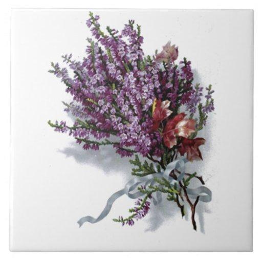 vintage lavendel blumenstrau fliese. Black Bedroom Furniture Sets. Home Design Ideas