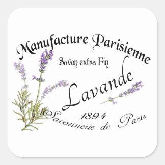 Vintage Lavender Quadratischer Aufkleber