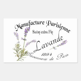 Vintage Lavender Rechteckiger Aufkleber