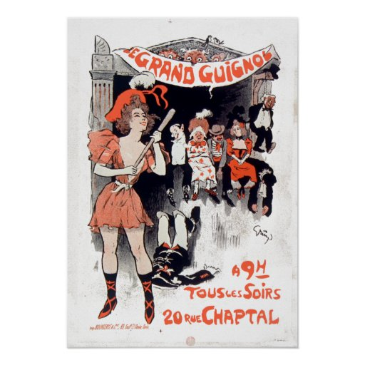 Vintage Le Théâtre DU Großartig-Guignol Poster
