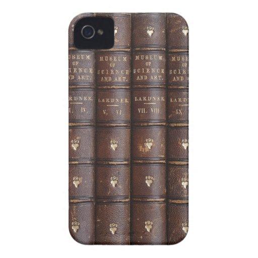 Vintage lederne Bibliotheks-Bücher auf dem BlackBe Blackberry Bold Cover