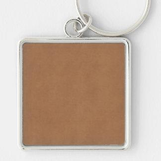 Vintage lederne Brown-Pergamentpapier-Schablone Schlüsselanhänger