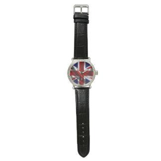 Vintage lederne Uhr des britischen