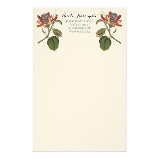 Vintage Leidenschafts-Blume Briefpapier