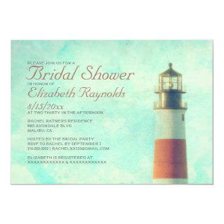 Vintage Leuchtturm-Brautparty-Einladungen 12,7 X 17,8 Cm Einladungskarte