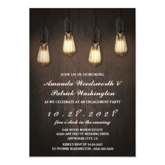 Vintage Lichterchic-Verlobungs-Party Einladungen