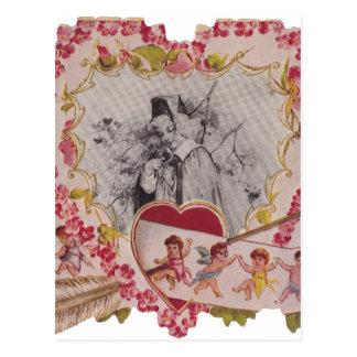 Vintage Liebe des glücklichen Valentinstags alte Postkarten