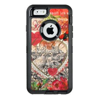 Vintage Liebe-Herz-Vögel OtterBox iPhone 6/6s Hülle