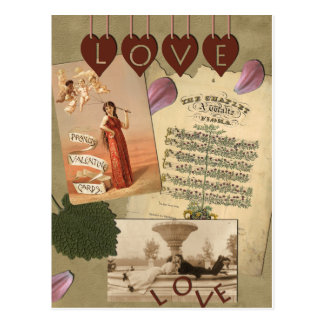 Vintage Liebe-Postkarte Postkarte