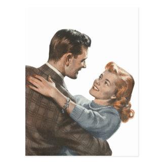 Vintage Liebe-Romance Jungvermählten sollen wir Postkarte
