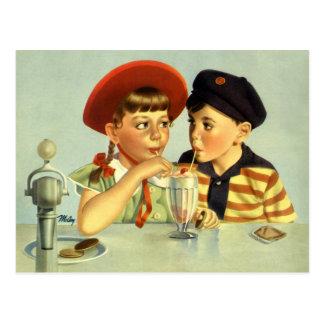 Vintage Liebe Romance romantisch Save the Date Postkarten