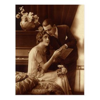 Vintage Liebe, Romance, romantisch, Save the Date Postkarte