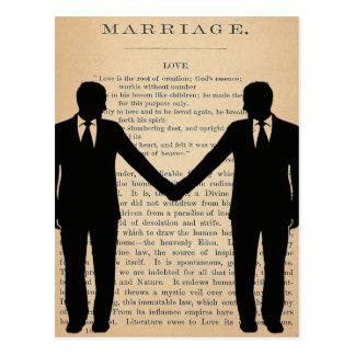 Vintage Liebe u. Heirat homosexuelles Wedding Postkarten