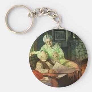 Vintage Liebe und Romance; Romantische Großeltern Schlüsselanhänger