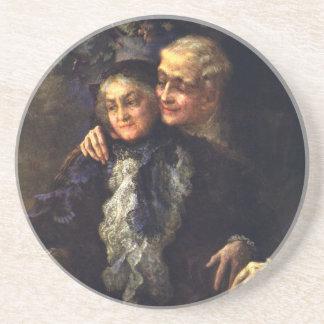 Vintage Liebe und Romance, romantische Untersetzer