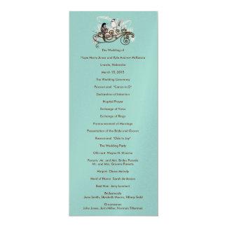 Vintage Liebe-Vögel, die Programm Wedding sind Karte